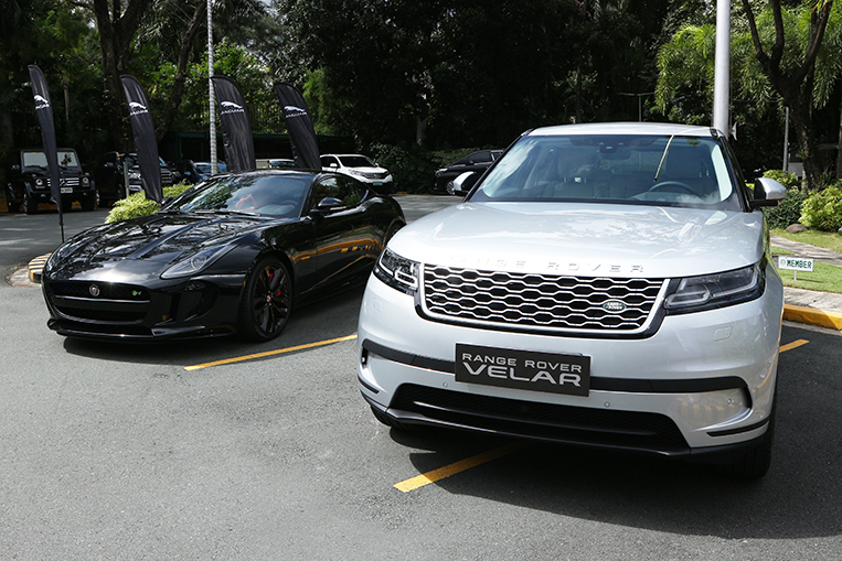 The Jaguar F Type R And The Range Rover Velar Were On Display During The  Contract Signing Ceremony. PHOTO BY VERNON B. SARNE