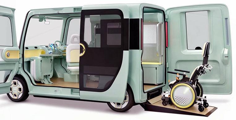 Daihatsu Pro Cargo with automated wheelchair ramp