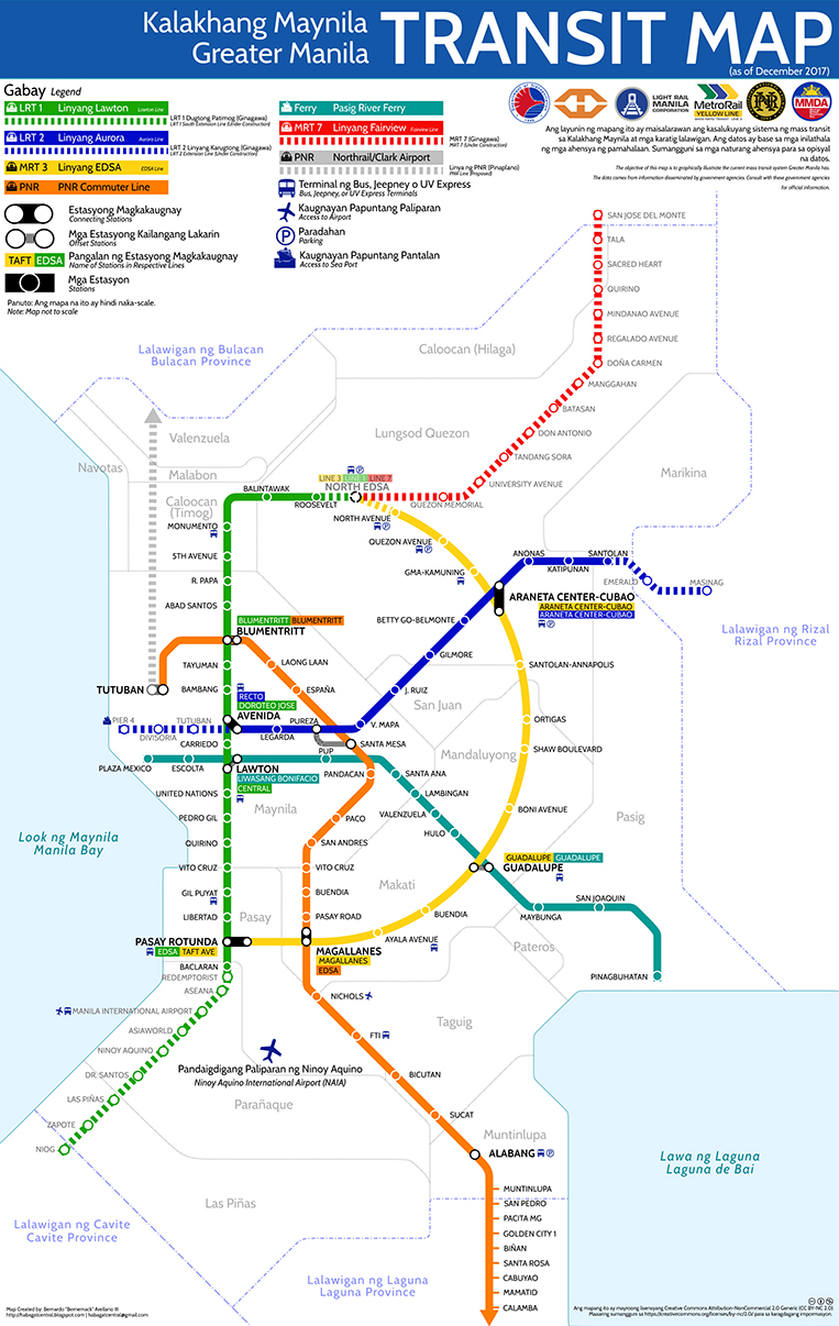 Manila Subway Map.Finally A Greater Manila Transit Map For All Commuters Visor Ph