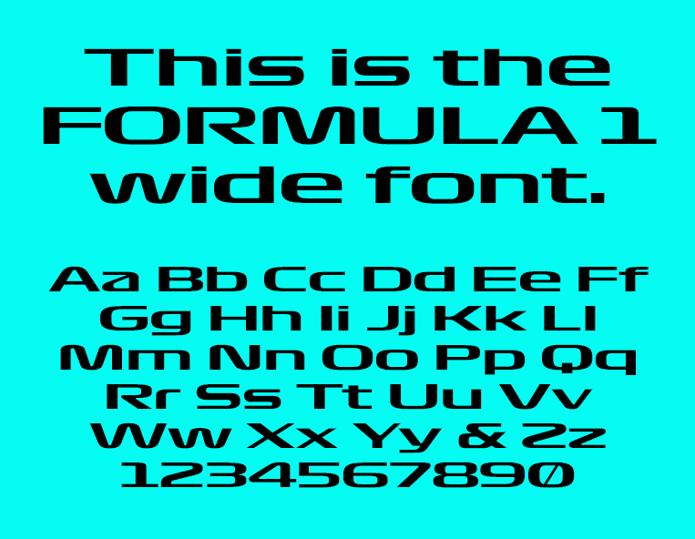 Want to use the cool new Formula 1 fonts? | VISOR PH