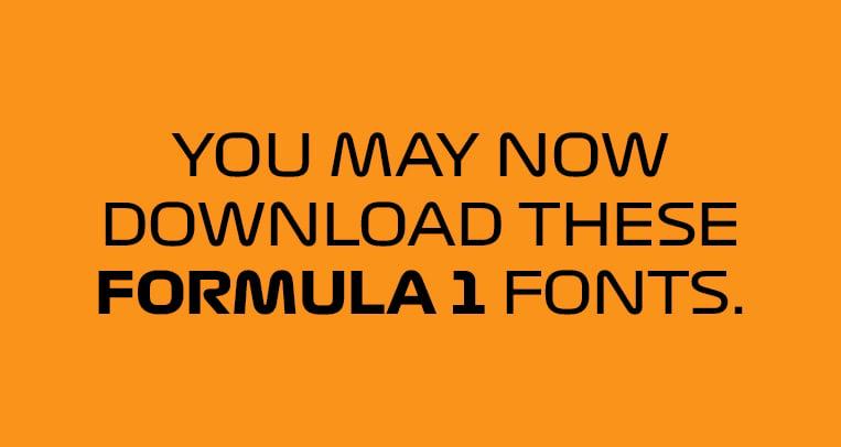 Want to use the cool new Formula 1 fonts? | VISOR PH