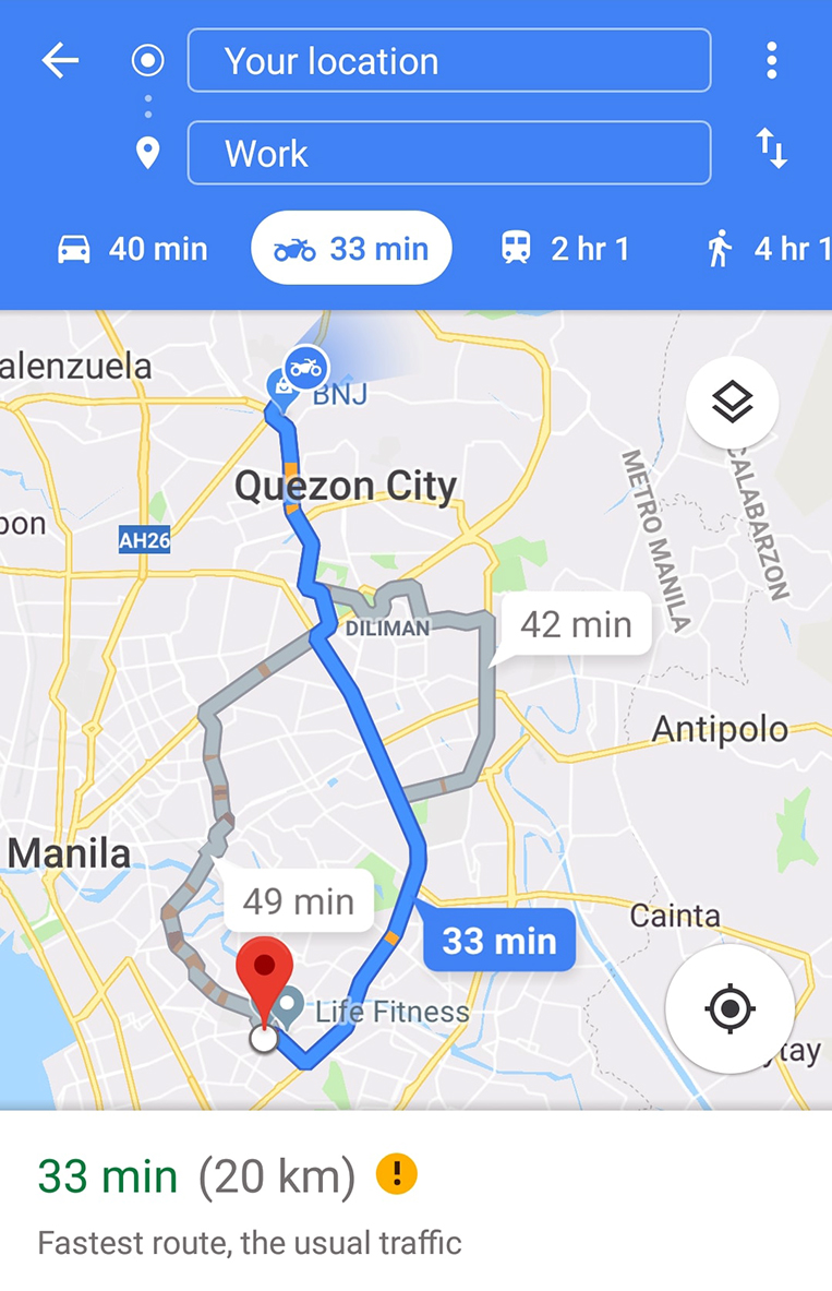 Google Maps adds motorcycle mode in Southeast Asia | VISOR PH