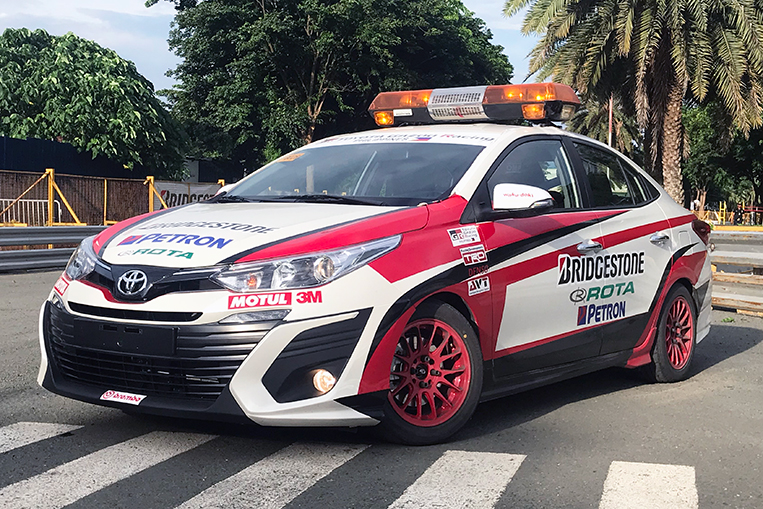 New Toyota Vios Is Now The Vios Cup Safety Car Visor Ph