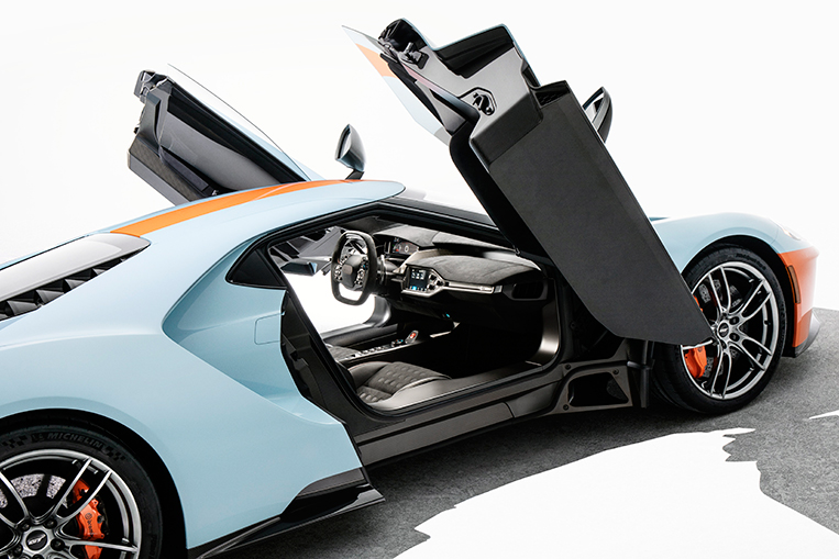 The Gulf Oil Colors Are Being Introduced As Though The Gt Isnt Visually Arresting Enough Not Fair Photo From Ford