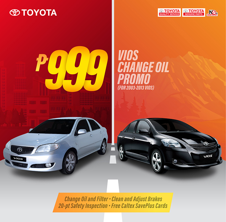 2003 2013 Toyota Vios Cars Are Eligible For P999 Service Package Visor Ph